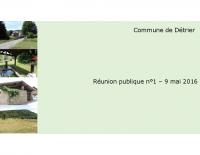 Compte-rendu de la réunion publique n°1 pour le PLU